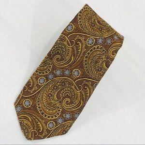 Robert Talbott Brown, Gold & Blue Paisley Tie